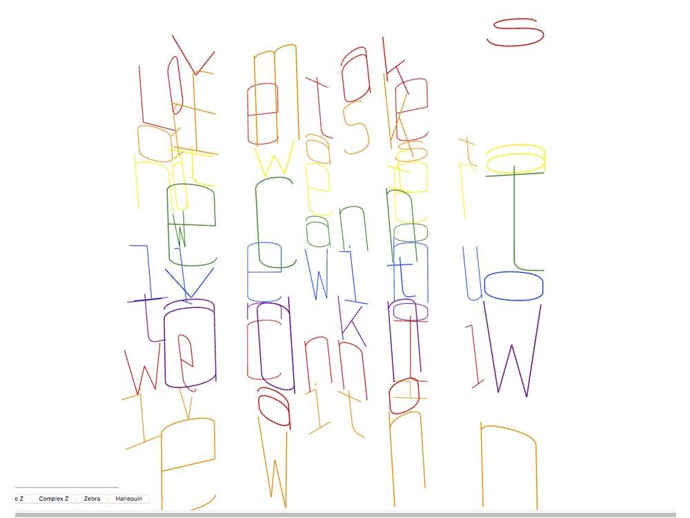 A.C. Evans, Illustration, STG Type Generator, kinetic type, James Baldwin