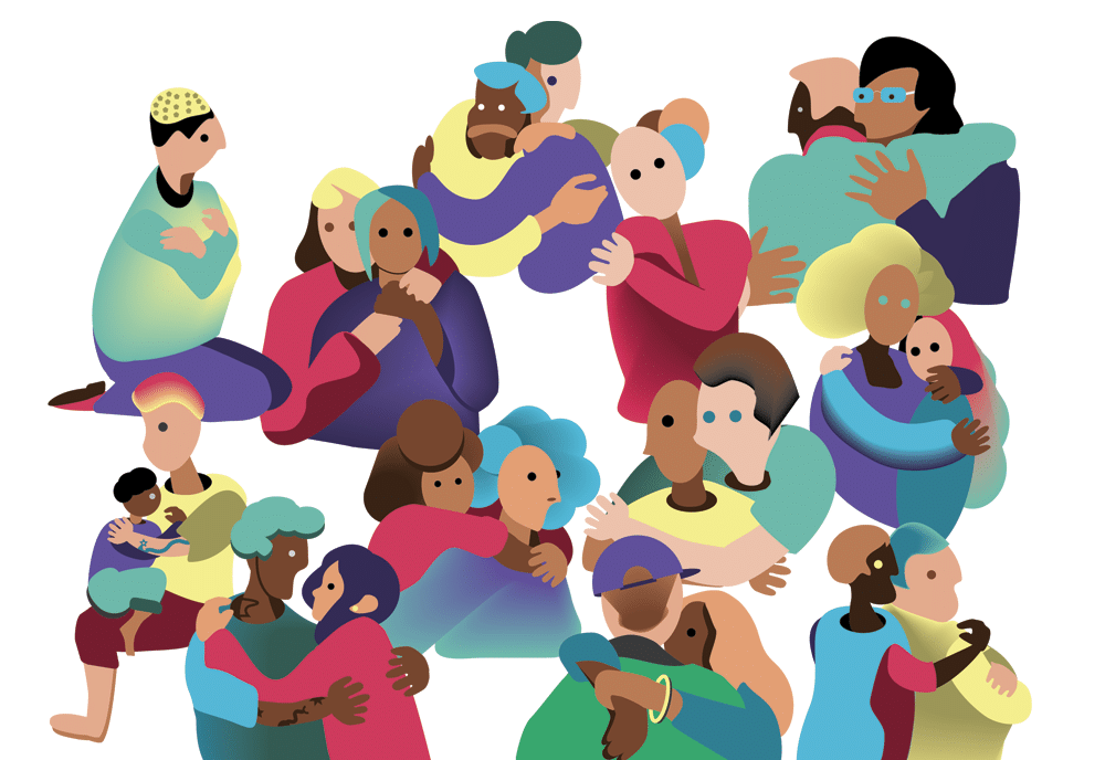 An illustration titled, The Spectrums, by A.C. Evans for Embracing our Diversity